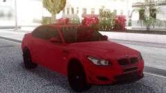 BMW M5 E60 Red Sedan para GTA San Andreas