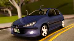 Peugeot 206 RC Blue Color para GTA San Andreas