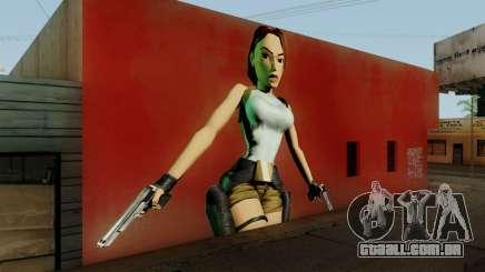 Tomb Raider I Lara Mural Mod para GTA San Andreas