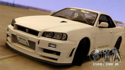 Nissan Skyline GT-R BNR34 Mid Night para GTA San Andreas