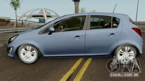 Opel (Vauxhall) Corsa D Phase 2 V1 para GTA San Andreas esquerda vista