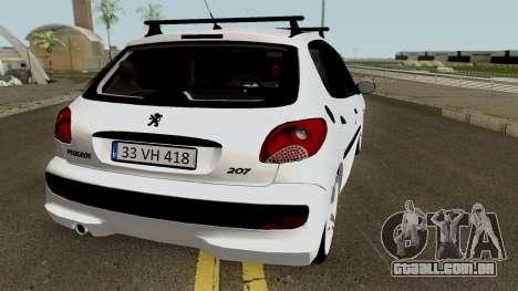 Peugeot 206 2012 para GTA San Andreas vista direita