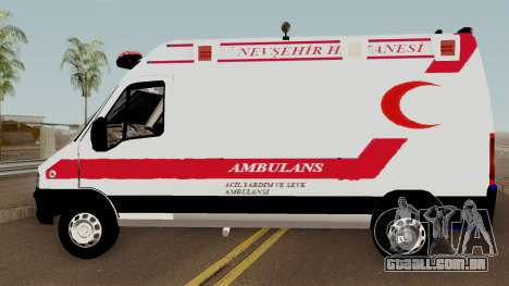 Fiat Ducato 2005 Turkish Ambulance para GTA San Andreas