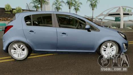 Opel (Vauxhall) Corsa D Phase 2 V1 para GTA San Andreas vista traseira