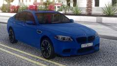 BMW M5 F10 Blue Sedan para GTA San Andreas