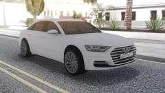 Audi A8 2018 White para GTA San Andreas