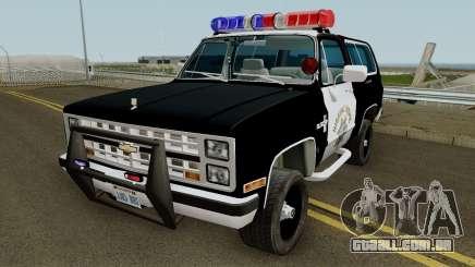 SAHP Chevrolet Blazer 1985 para GTA San Andreas