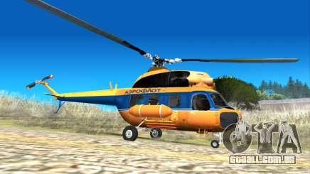 Soviética helicóptero Mi-2 Aeroflot para GTA San Andreas