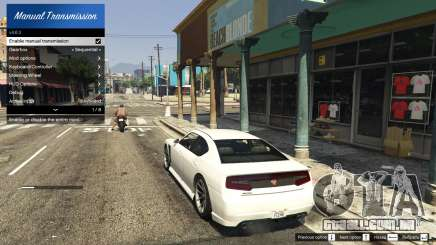 Manual Transmission and Steering Wheel Support para GTA 5