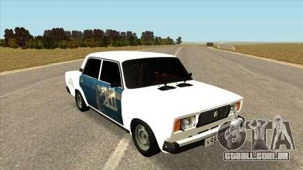 VAZ 2107 Hobo Branco para GTA San Andreas