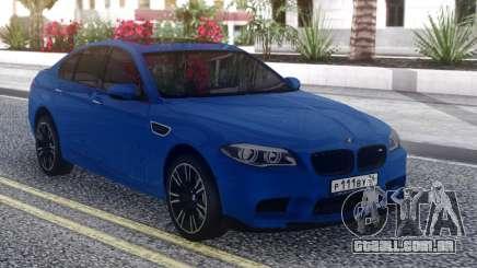 BMW M5 F10 Blue Sedan para GTA San Andreas