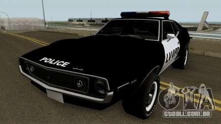 AMC Javelin AMX 401 Police LVPD 1971 V1 para GTA San Andreas
