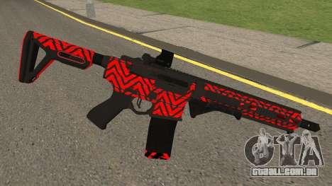 New Assault Rifle (Red) para GTA San Andreas
