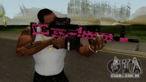 Gunrunning Combat MG MK.II GTA 5 Pink Skull para GTA San Andreas