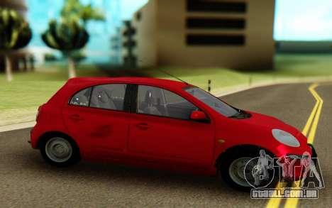 Nissan Micra ELLE para GTA San Andreas