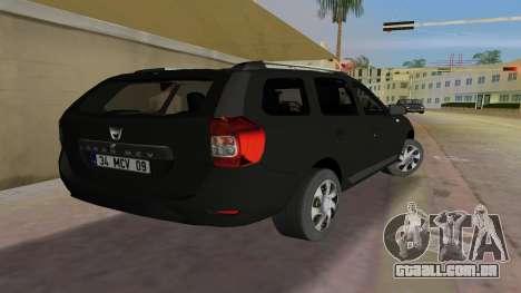 2013 Dacia Logan MCV para GTA Vice City