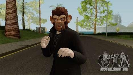 GTA Online Halloween Monkey Skin 2018 para GTA San Andreas