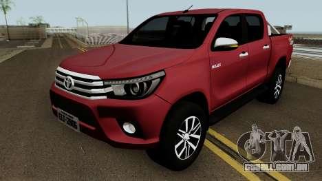 Toyota Hilux SRX 4X4 2017 para GTA San Andreas