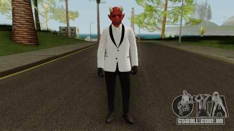 GTA Online Halloween Devil Skin 2018 para GTA San Andreas