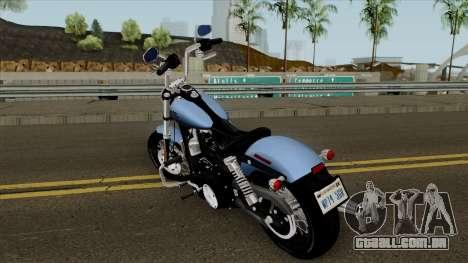 Harley-Davidson FXDB - Dyna Street Bob 2017 para GTA San Andreas