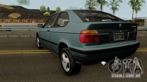 BMW 3-Series e36 Compact 318ti 1995 (US-Spec) para GTA San Andreas