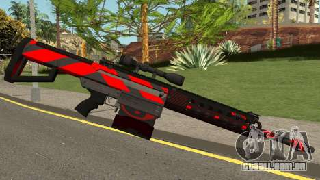 New Sniper Rifle (Red) para GTA San Andreas