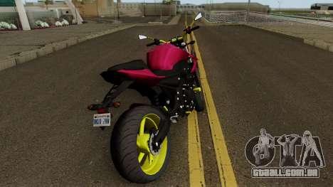Yamaha XJ6 2013 Motovlog para GTA San Andreas