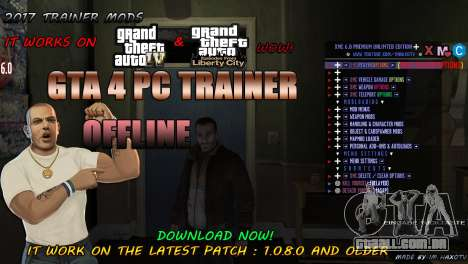 Script Trainer NEW By Im HaxoTV 1.0.8.0 para GTA 4
