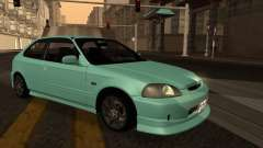 Honda Civic Olive Green para GTA San Andreas