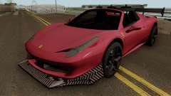Ferrari 458 Spider Racing Edition para GTA San Andreas