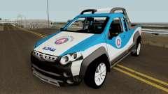 Fiat Strada Locker 2013 PMBA para GTA San Andreas