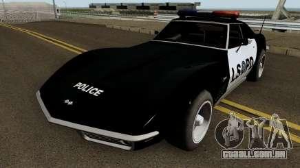 Chevrolet Corvette C3 Stingray Police LSPD para GTA San Andreas
