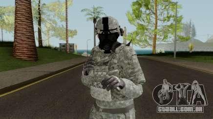 US Army ACU Skin (Gasmask) para GTA San Andreas