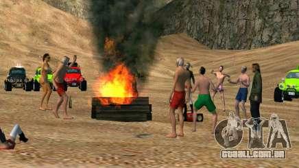 Festa na praia para GTA San Andreas