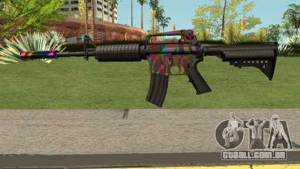 Rainbow M4 para GTA San Andreas