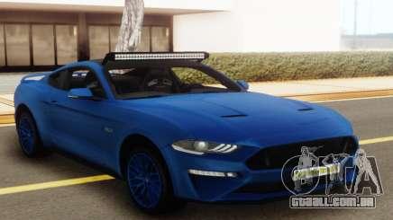 Ford Mustang GT 2018 Blue para GTA San Andreas