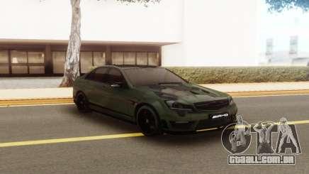 Mercedes-Benz C63 AMG Camo para GTA San Andreas