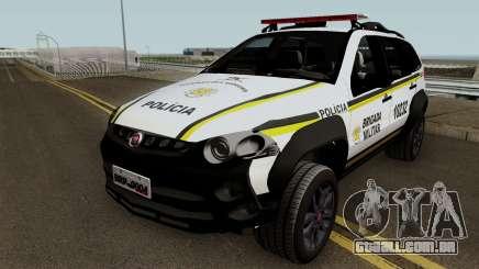 Fiat Palio Weekend Brazilian Police para GTA San Andreas