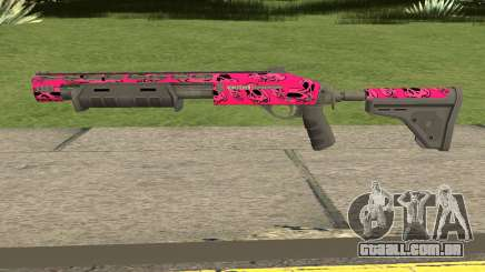 Rifle GTA V Online Pink Skull Livery para GTA San Andreas