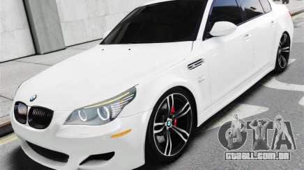 BMW M5 E60 White Stock para GTA 4