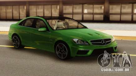 Mercedes-Benz C63 AMG Green para GTA San Andreas