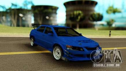 Mitsubishi Evolution 9 Blue para GTA San Andreas