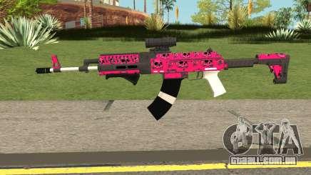 Gunrunning Assault Rifle Mk2 GTA V Pink Skull para GTA San Andreas