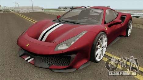 Ferrari 488 Pista 2019 para GTA San Andreas