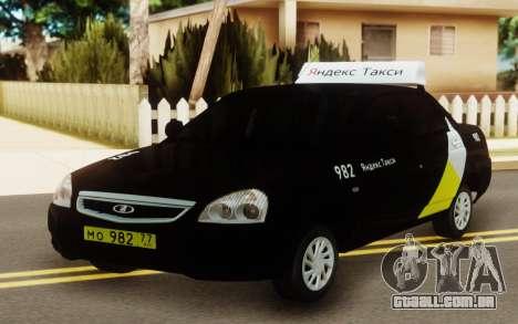 Lada Priora Táxi Yandex para GTA San Andreas