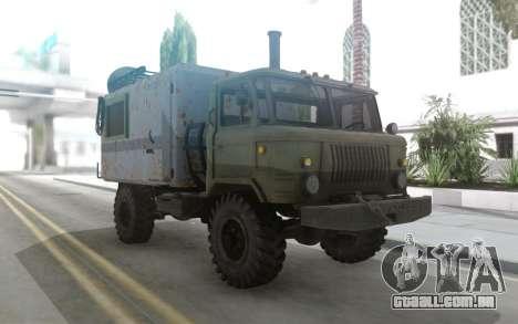 GAZ 66 Mini casa sobre rodas para GTA San Andreas