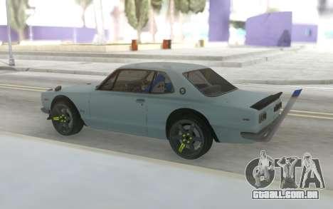 Nissan Skyline GT2000 Drift para GTA San Andreas