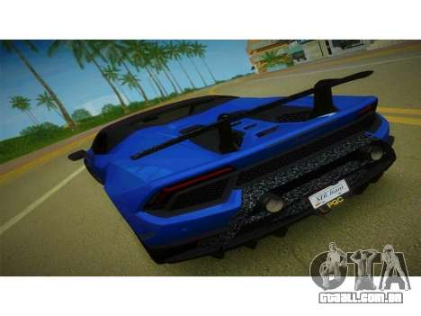Lamborghini Huracan Performante Spyder para GTA Vice City