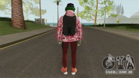 R6S Ela with Christmas Outfit (GTA Online MP) para GTA San Andreas