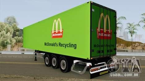 McDonald Recycling Trailer para GTA San Andreas